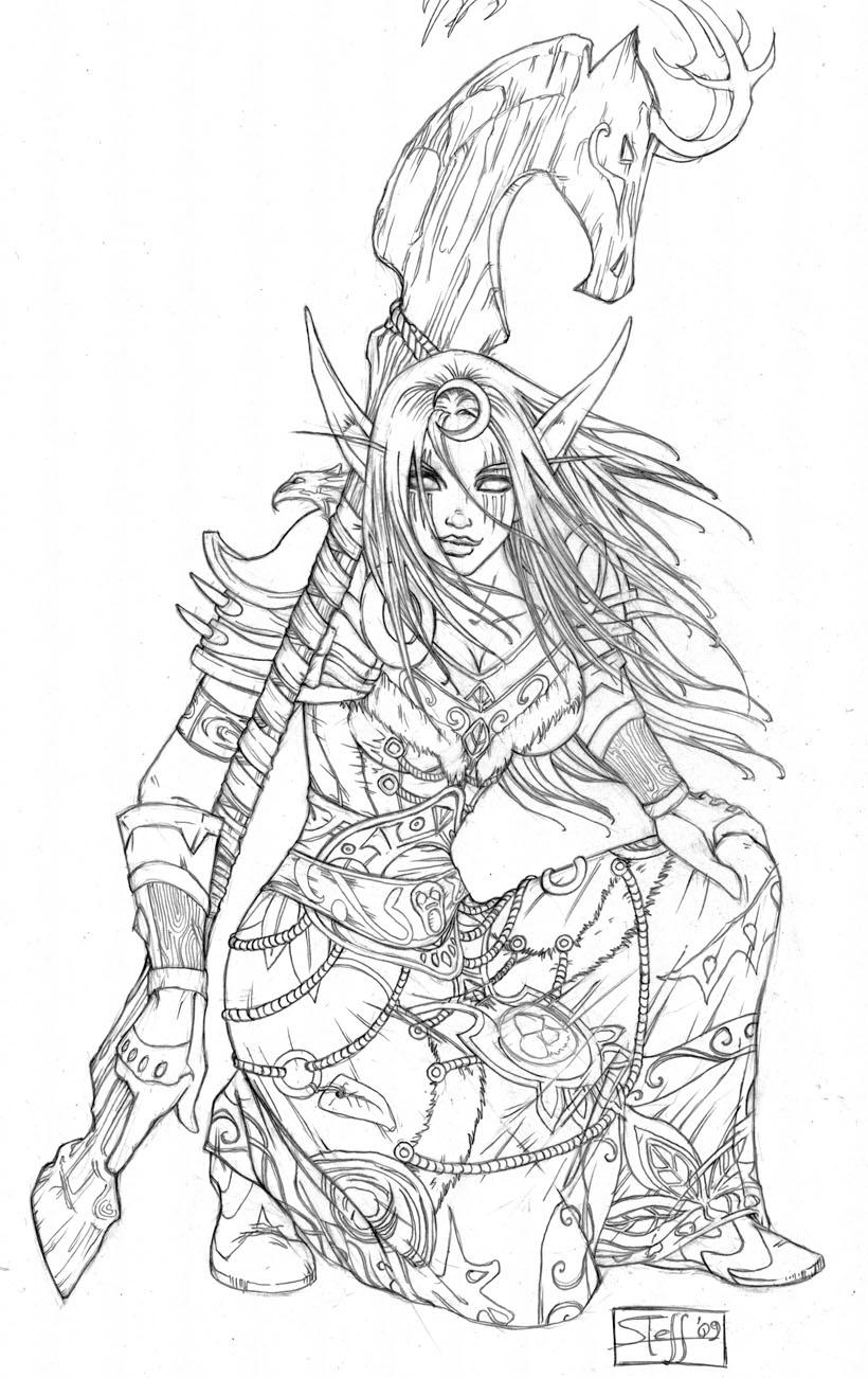 Druid coloring #6, Download drawings
