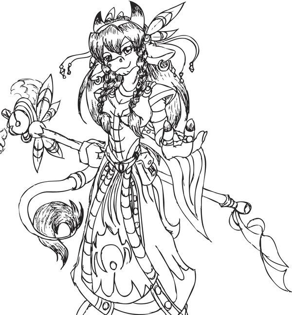 Druid coloring #19, Download drawings