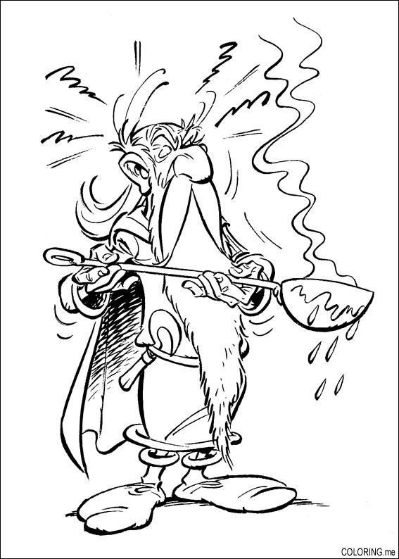 Druid coloring #10, Download drawings
