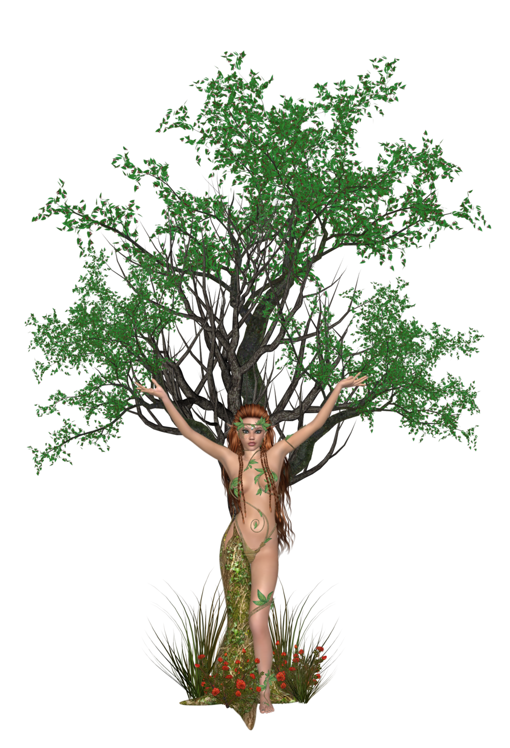 Dryad clipart #3, Download drawings