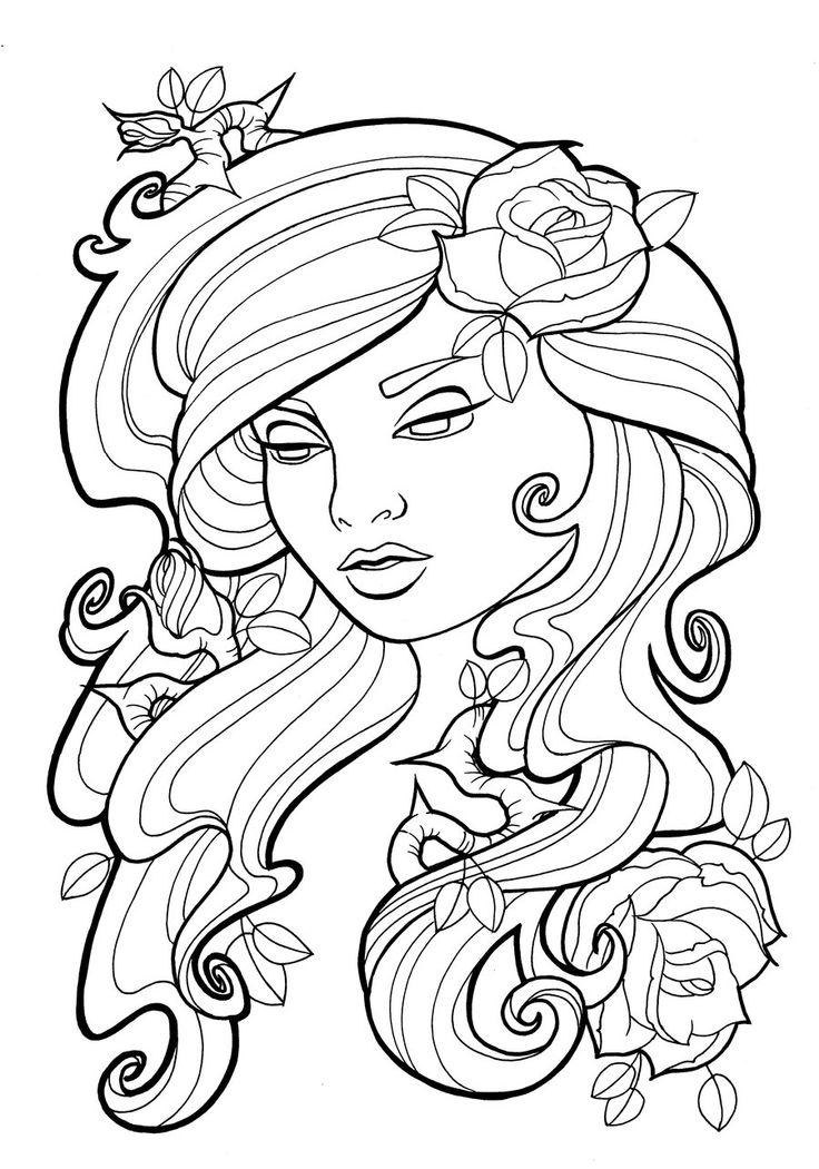 Dryad coloring #20, Download drawings
