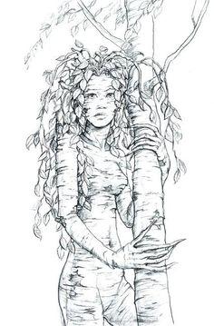 Dryad coloring #3, Download drawings
