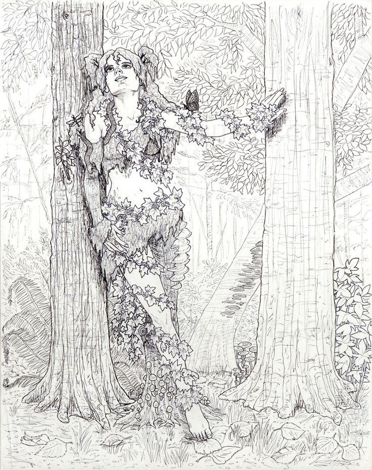 Dryad coloring #16, Download drawings