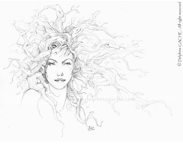 Dryad coloring #1, Download drawings