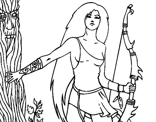 Dryad coloring #12, Download drawings