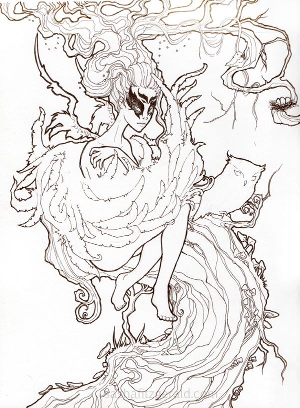 Dryad coloring #2, Download drawings