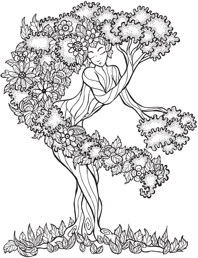 Dryad coloring #15, Download drawings