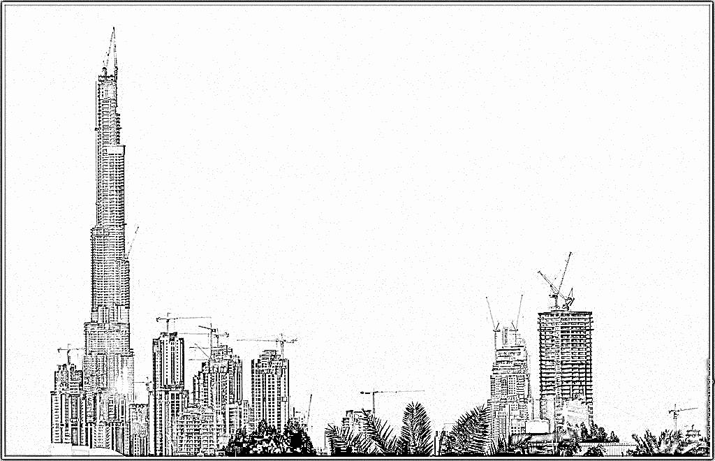 Dubai coloring #12, Download drawings