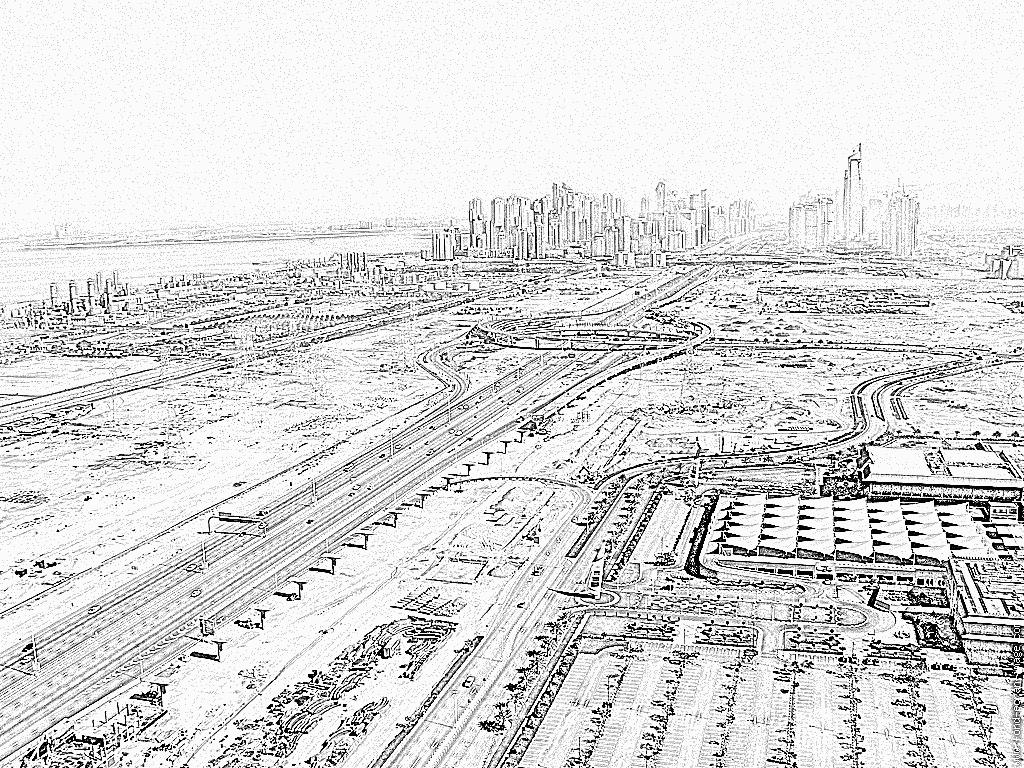Dubai coloring #9, Download drawings