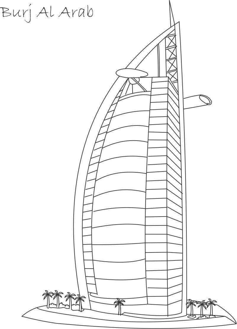 Dubai coloring #17, Download drawings