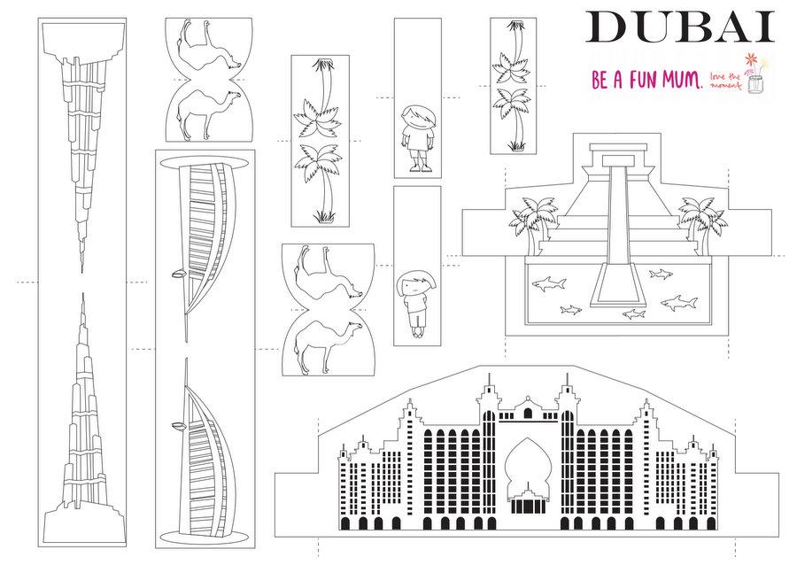 Dubai coloring #5, Download drawings
