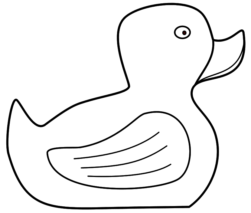 Duck coloring #8, Download drawings