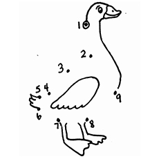 Duck coloring #13, Download drawings