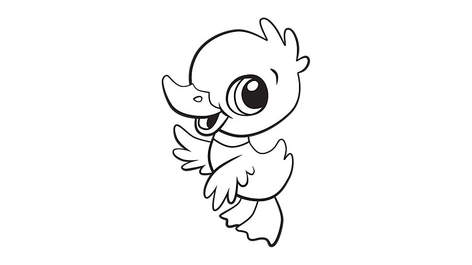 Duckling coloring #14, Download drawings