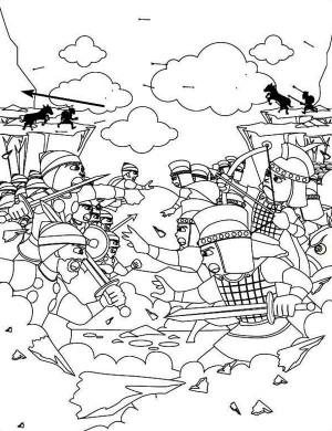 Duel coloring #20, Download drawings
