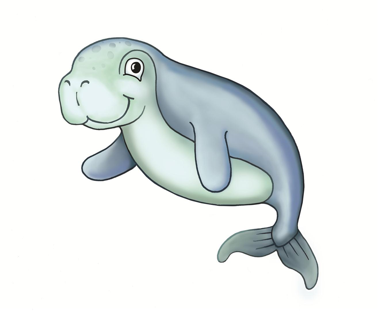 Dugong clipart #1, Download drawings
