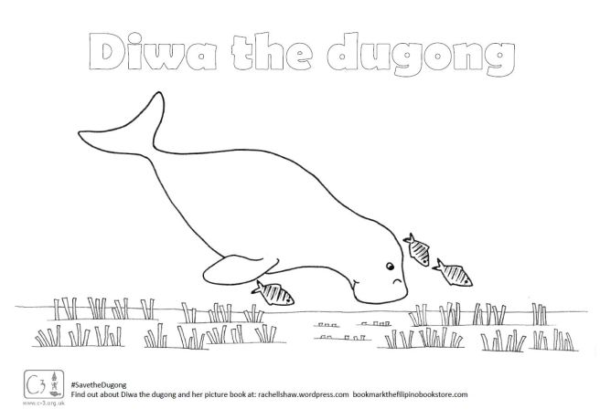 Dugong coloring #5, Download drawings