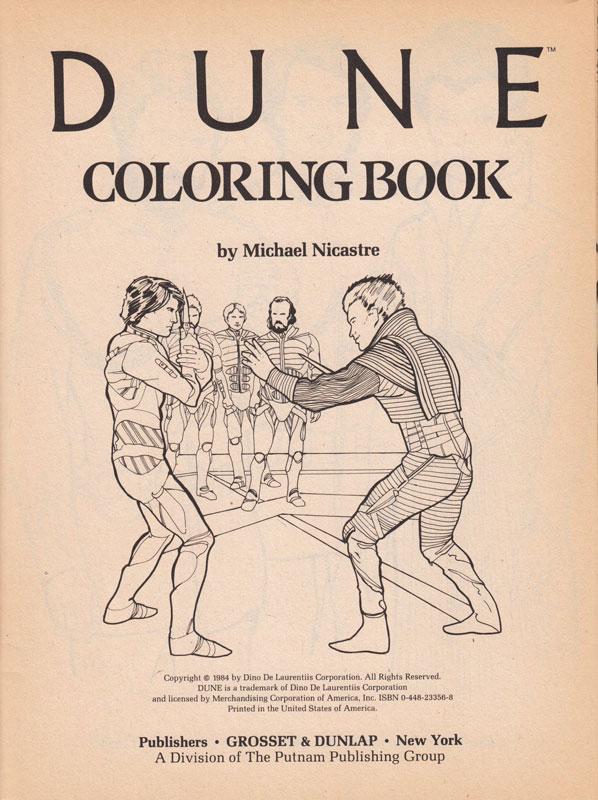 Dune coloring #4, Download drawings