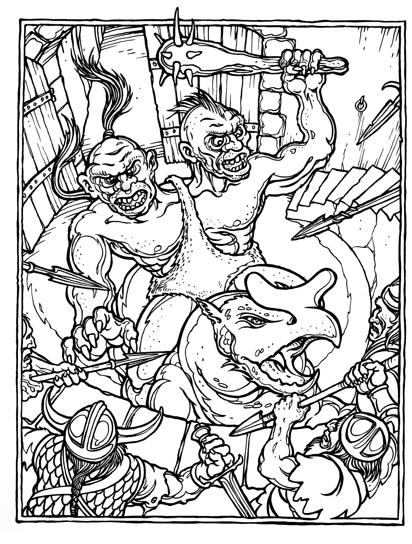 Dungeons & Dragons coloring #6, Download drawings