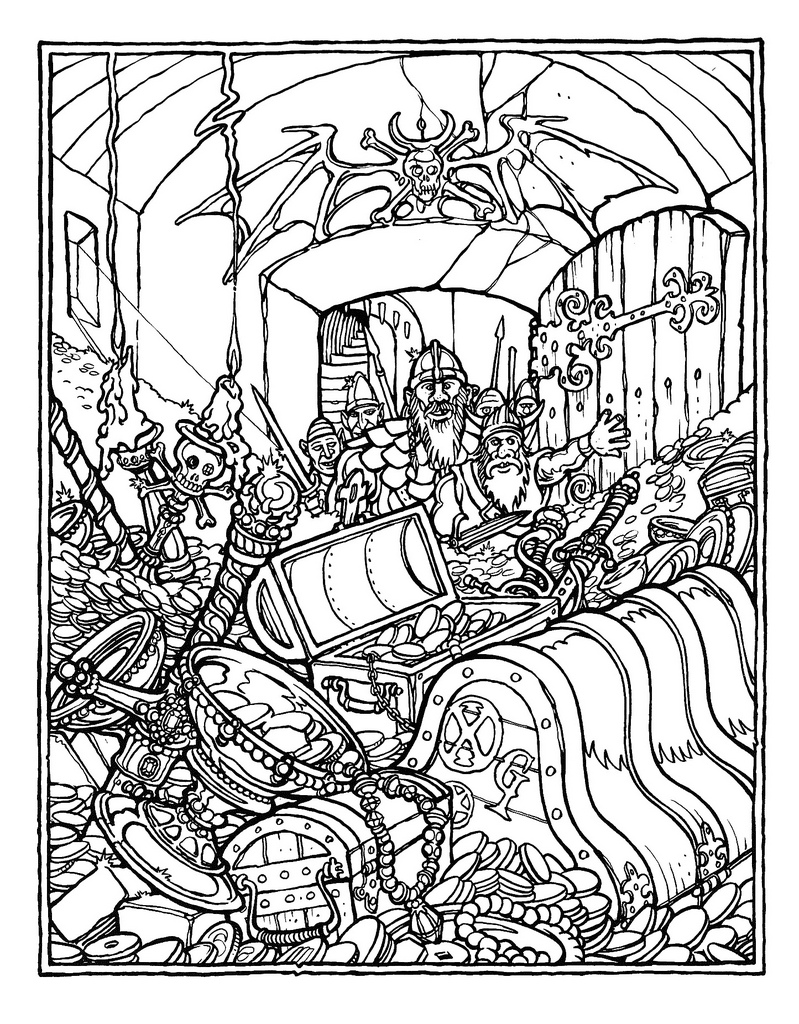 Dungeons & Dragons coloring #9, Download drawings