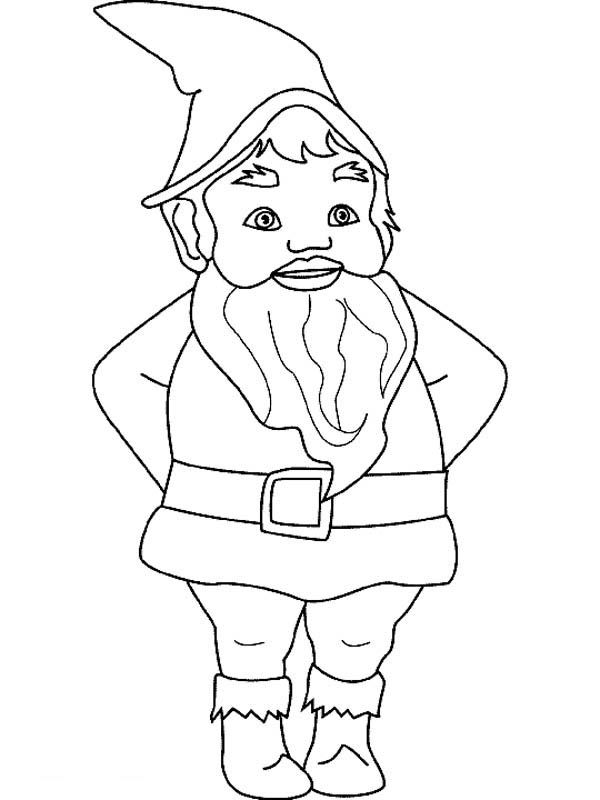 Gnome coloring #1, Download drawings