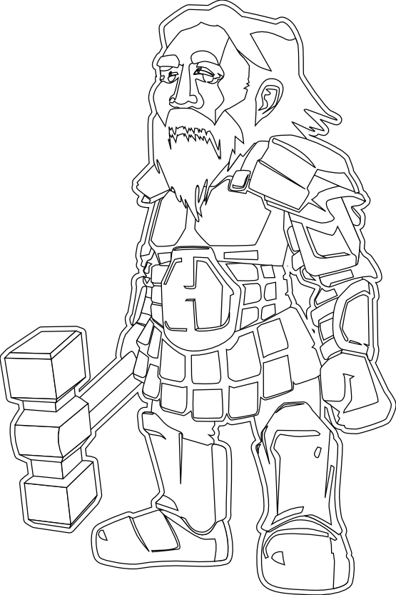 Dwarf svg #7, Download drawings