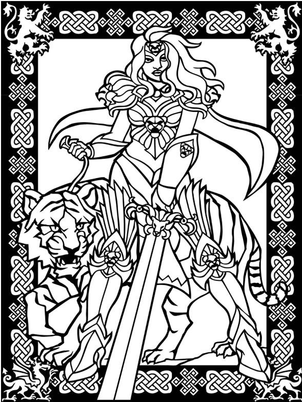 Dying Warrior coloring #1, Download drawings
