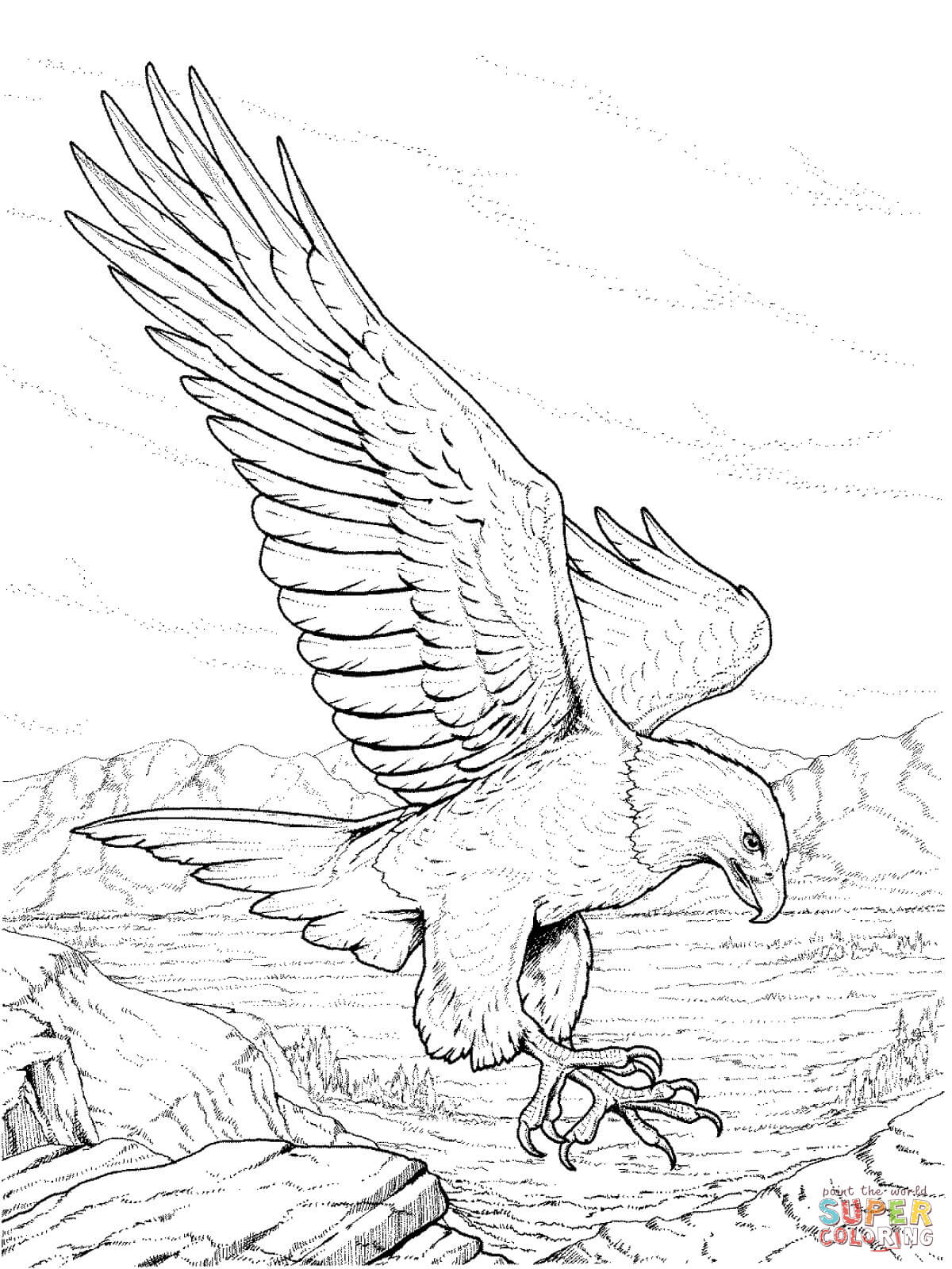 Eagle coloring #13, Download drawings