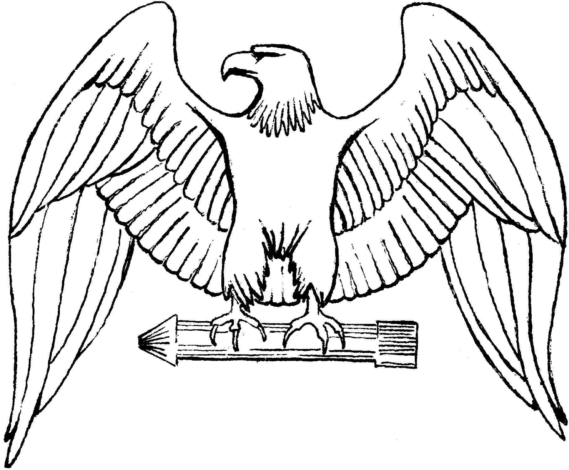 Eagle coloring #20, Download drawings