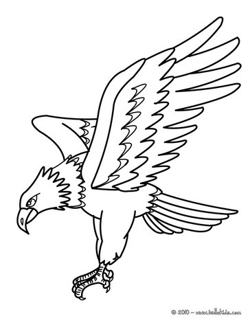 Eagle coloring #17, Download drawings
