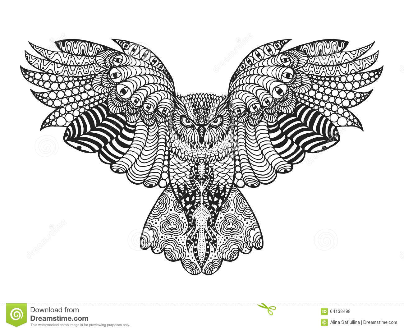 Eagle-owl coloring #7, Download drawings