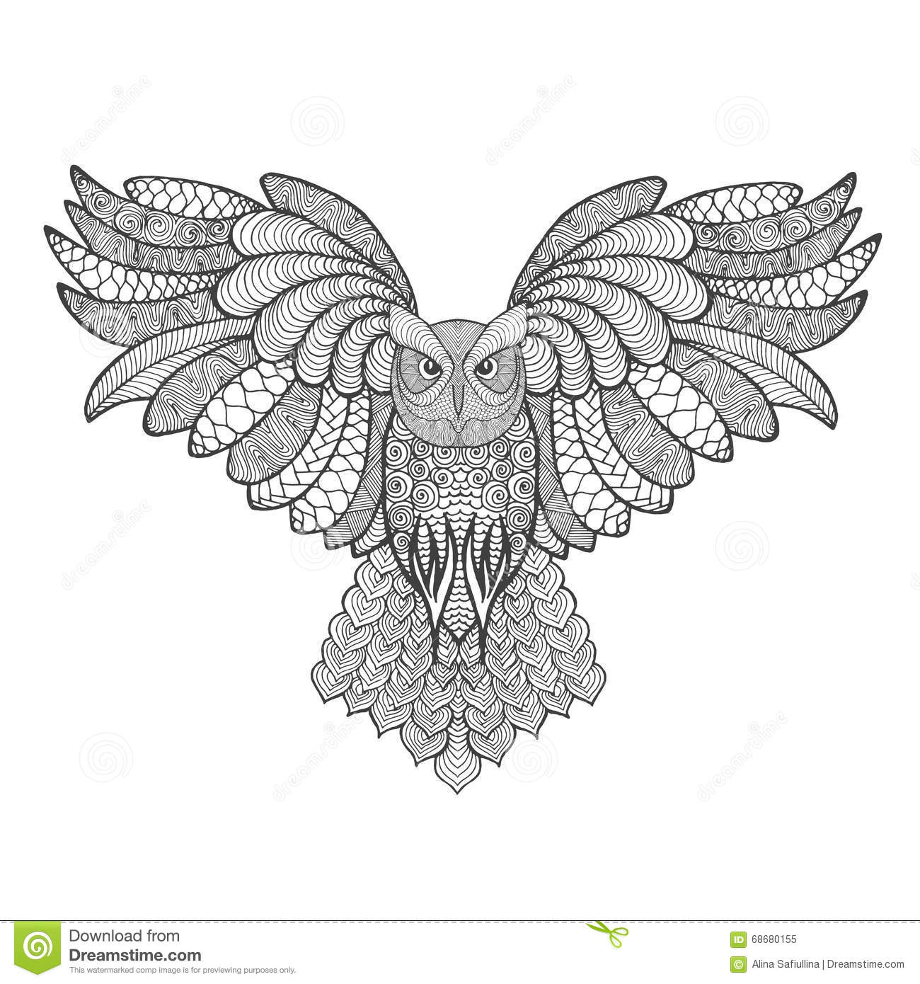 Eagle-owl coloring #3, Download drawings