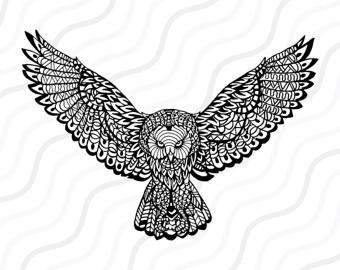 Great Gray Owl svg #18, Download drawings