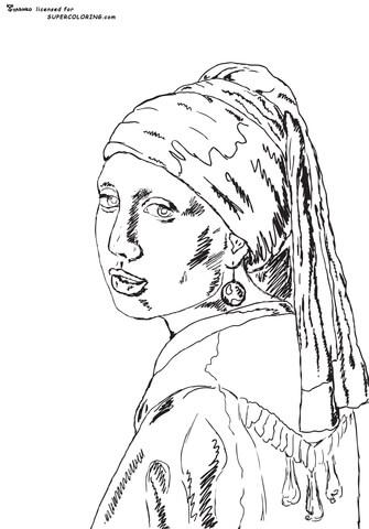 Earrings coloring #12, Download drawings