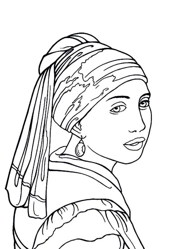 Earrings coloring #2, Download drawings