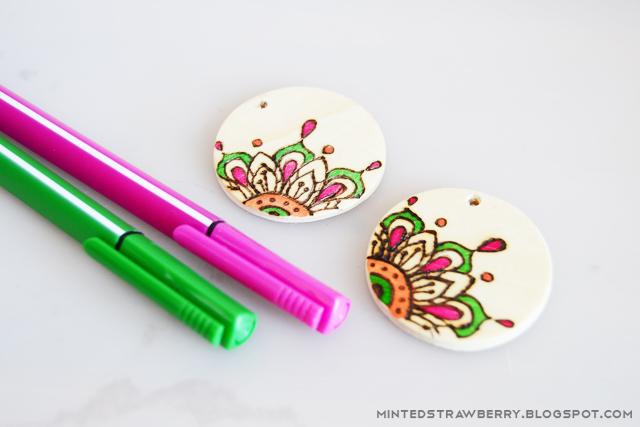Earrings coloring #6, Download drawings