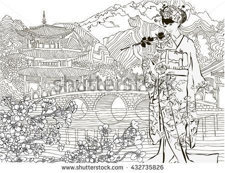 East coloring #7, Download drawings