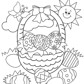 Easter coloring #19, Download drawings