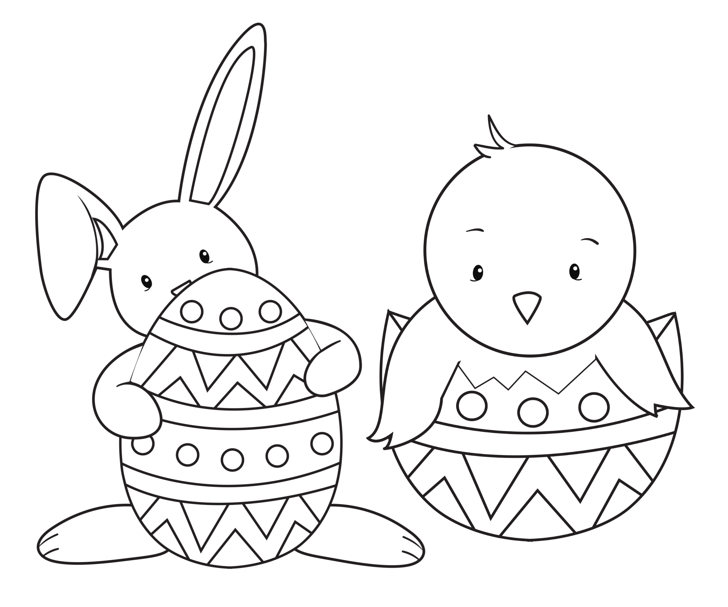 Easter coloring #1, Download drawings