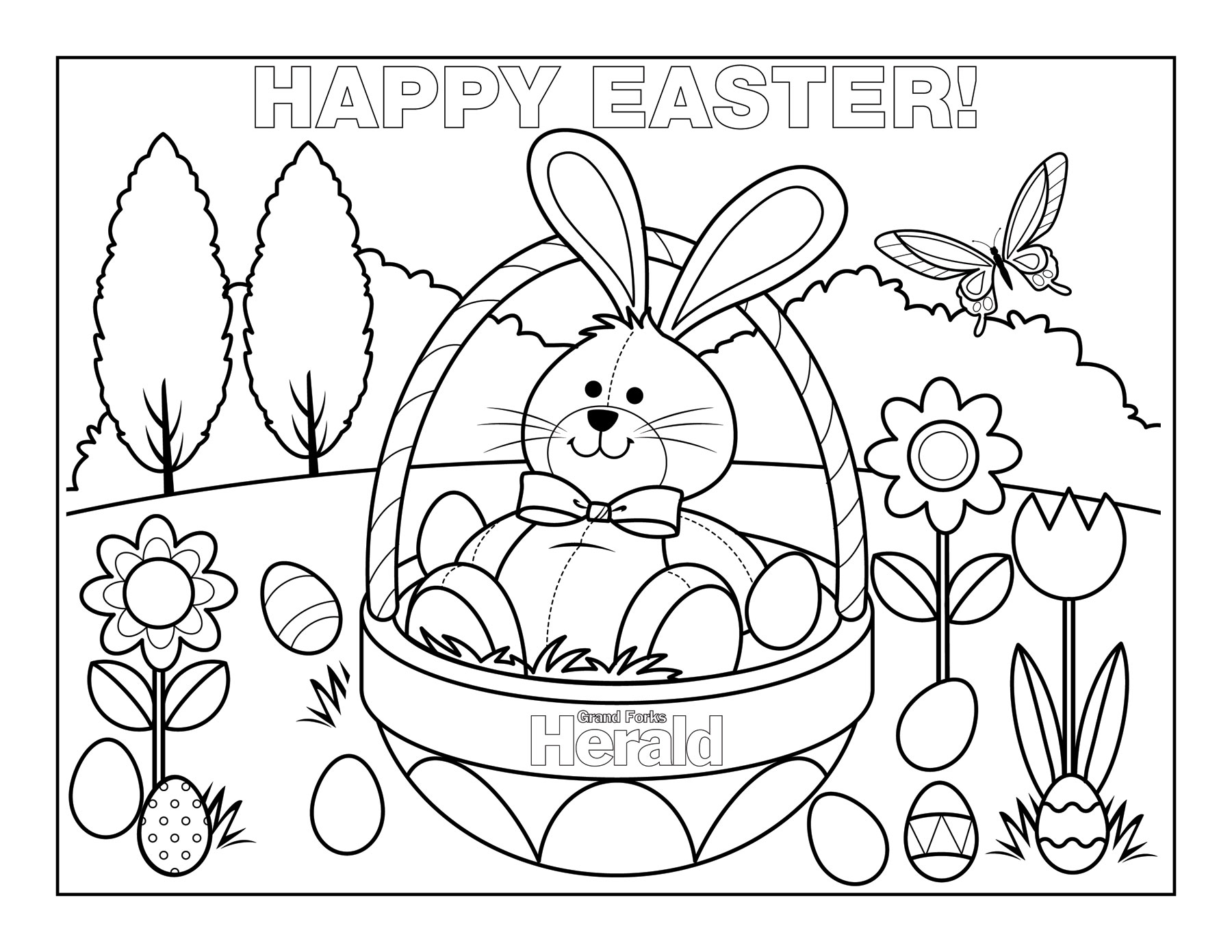 Easter coloring #2, Download drawings