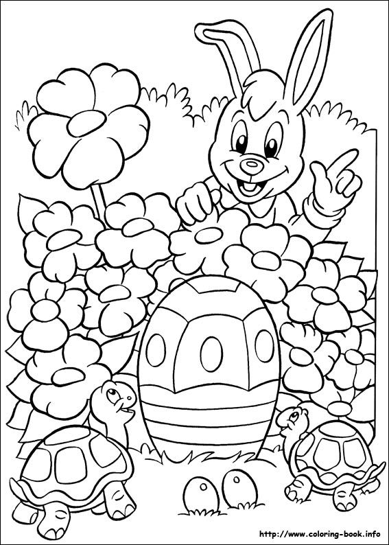 Easter coloring #4, Download drawings