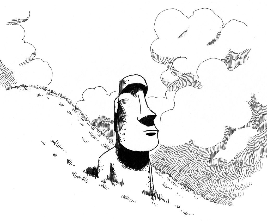 Easter Island coloring #8, Download drawings