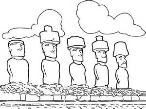 Easter Island coloring #15, Download drawings