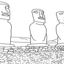 Easter Island coloring #9, Download drawings