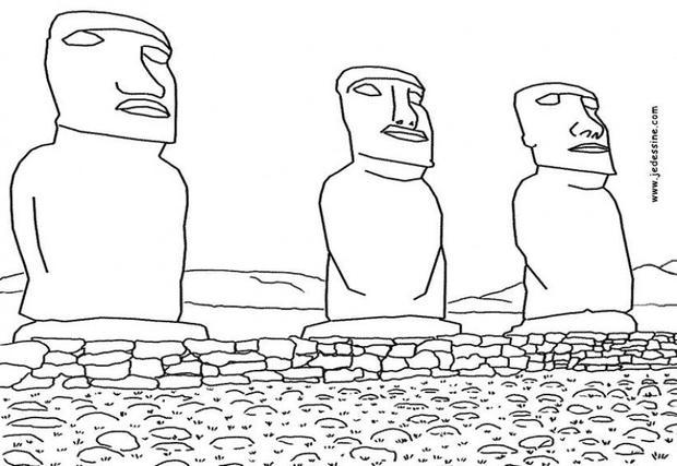 Easter Island coloring #12, Download drawings