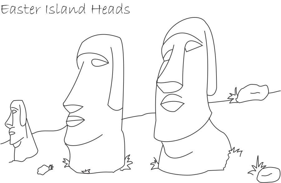 Easter Island coloring #16, Download drawings
