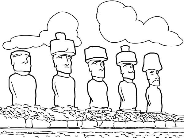 Easter Island coloring #18, Download drawings