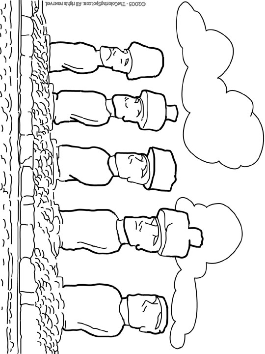 Easter Island coloring #14, Download drawings