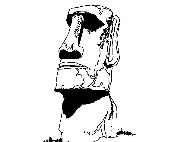 Easter Island coloring #5, Download drawings