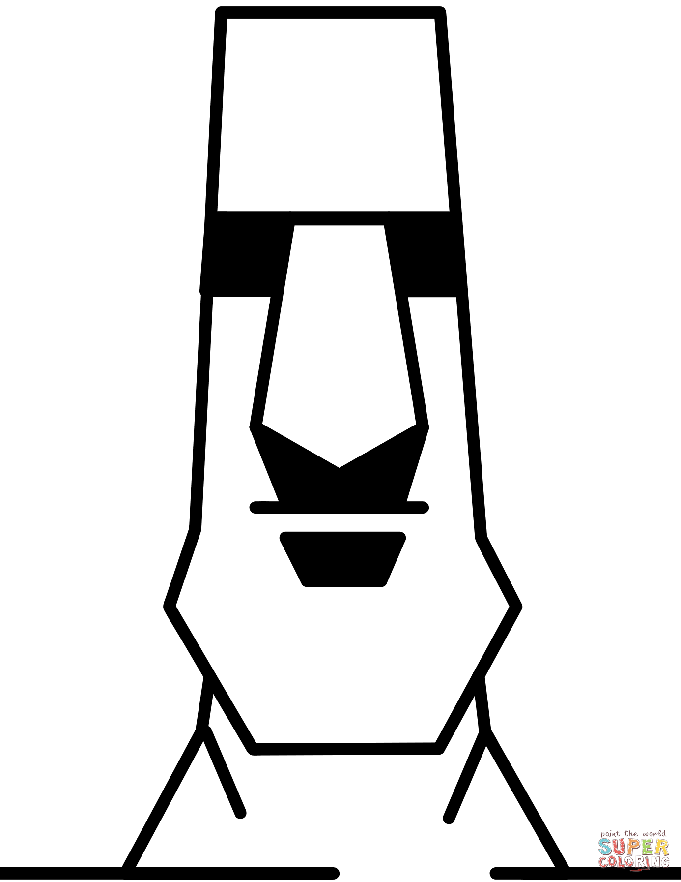 Easter Island coloring #7, Download drawings